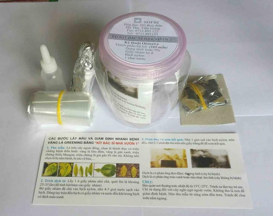 Bộ kít bác sĩ nhà vườn 1 - Giám định nhanh bệnh vàng lá Greening